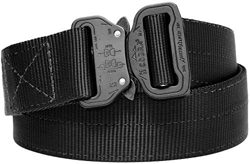 Klik Belt, World's Strongest 2-Ply Tactical Belt for Law Enforcement and Military,Matte Black,36...