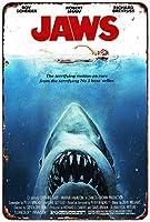 Shimaier 壁の装飾 メタルサイン 1975 Jaws Movie ウォールアート バー カフェ 縦30×横40cm ヴィンテージ風 メタルプレート ブリキ 看板