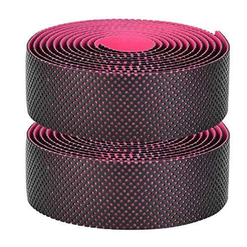 Banda de absorción de golpes para bicicleta, 4 colores, 216 x 3 x 0,3 cm, absorción de sudor, 1 par de manillares de bicicleta, para bicicletas de montaña, bicicleta de carretera (polvo negro)