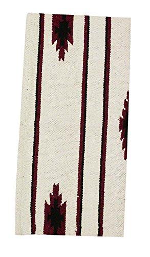 AMKA Westernpad weiß Pony Sattel Navajo Decke 26 x 26 Inch, 66 x 66 cm Western Satteldecke für Ponysättel Saddle Blanket