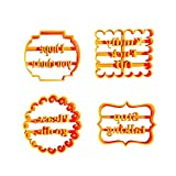 Cookie Molds with Good Wishes, Funny Cookie Cutters Adult, Cookie Cutter Sets for Baking Shapes,Baking Diy Cookie