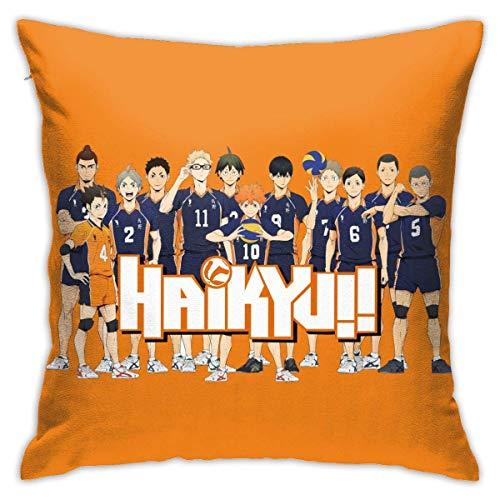 XCNGG Haikyu !! Fundas de almohada para la sala de estar Cojines cuadrados decorativos para el hogar