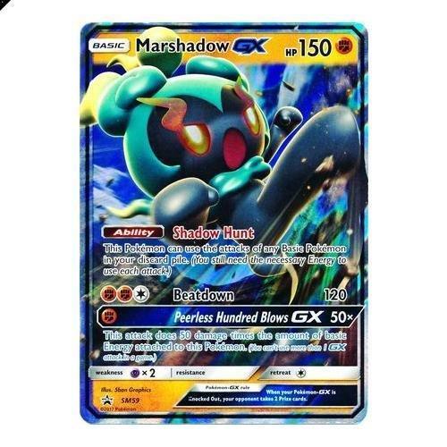 Carta Pokemon Card Rara Holo * Marshadow GX * SM59 Black Star Promo