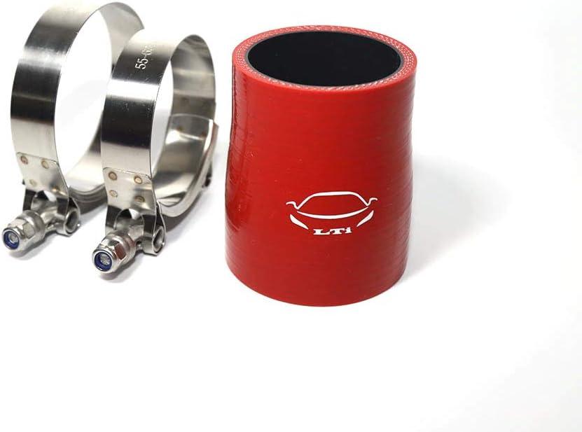 Pro Braking PBC1176-ORA-RED Braided Clutch Line Orange Hose /& Stainless Red Banjos