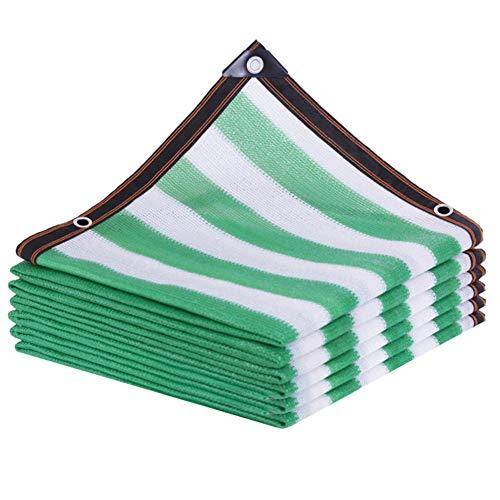 CYOUL-LI Shade Paño Shade Canopy Shading Net Sun Shade Sail90% Tarifa de sombreado Rayas Verdes 12 Puntadas Cubierta de Sombra Jardín Construcción Sitio de Flores (Color : Green, Size : 4X5M)