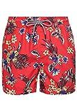 Superdry Super 5s Beach Volley SWM Shrt Pantalones Cortos, Rojo (Vintage Tropical Red D5u), L para Hombre
