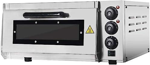 Four à pizza en pierre Itop Professional pizza oven - 400 x 400 mm - 2000 W - Gastro four for Pizza, Bread and Pastry - La...