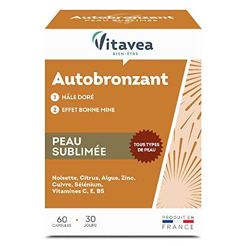 Optima Autobronzant - Hale Doré Et Teint Lumineux sans Exposition au Soleil - produit en France - 60 Capsules - Vitavea