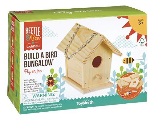 Toysmith Beetle & Bee Build a Bird Bungalow DIY Kit for Kids