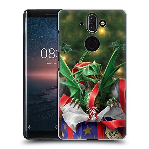 Head Case Designs Oficial Anne Stokes Regalo Sorpresa Navidad Carcasa rígida Compatible con Nokia 8 Sirocco