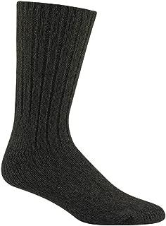 Unisex El-Pine Warm Wool Heavyweight Socks, Olive Heather, LG