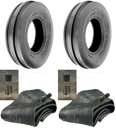 LOT OF TWO (2) 6.00-16 6.00X16 600-16 Tri Rib (3 Rib) F-2 Tires with Tubes 6 PLY RATED