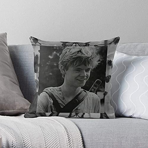 Wolf The Maze Teen Runner Dylan Obrien - Funda de Almohada Decorativa Cuadrada Personaliza el hogar, el sofá y la Cama Personalizo