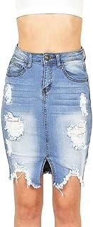 chenshiba-JP 女性はユーズドボディーコンセクシーデニムジーンズパーティーショートスカート