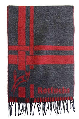 Écharpe Webschal Red Fox à la mode gris rouge 100% laine (Mérinos) R-69