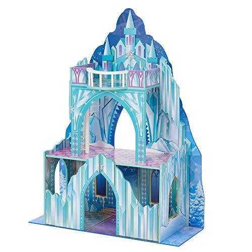 Castillo de hielo de madera para muñecas de...