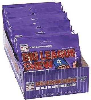 Big League Chew Bubble Gum Grape 12Count