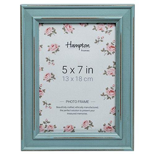 Hampton Frames PAL301957B Fotorahmen, Shabby-Chic-Stil, 13 x 18 cm, Holz, Blau