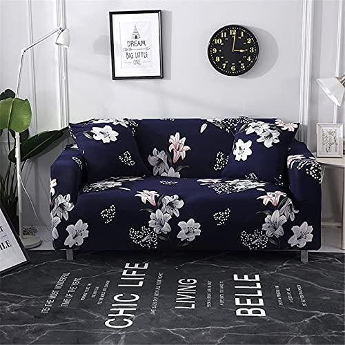 DHHY Hochauflösende Sofabezug Für Digitaldruck, Antifouling-Sofabezug Aus Polyesterfaser, Volle Sofabezug Für Wohn- Und Schlafzimmer 1 2 3 4 Sitze 4-Seater 235-300cm