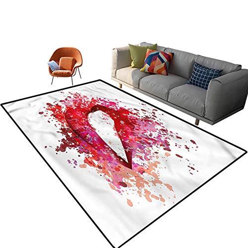 Alfombra rectangular para interiores de 3 x 5 pies, con parte trasera antideslizante para entrada, sala de estar, dormitorio, guardería, sofá, decoración del hogar
