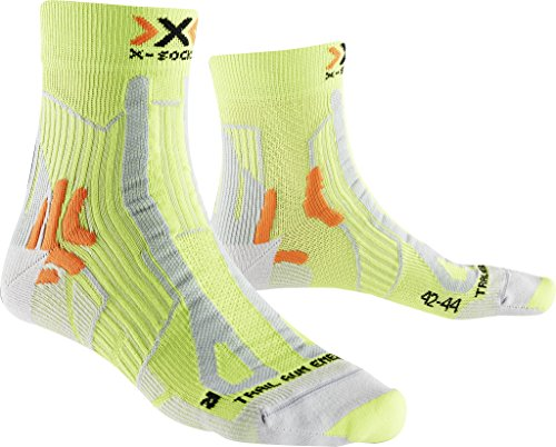 X-Socks Hombre Trail Run Energy Man calcetín, Hombre, Trail Run Energy Man, GreenLime/Pearl Grey