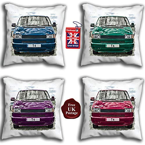 T4 Camper Van Cushion Cover T4 Van Choice of sizes & Van Colours, Handmade 10 to 20 inch See Description