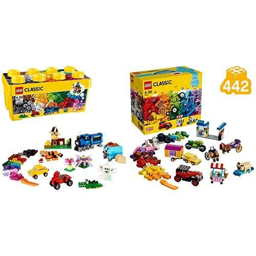 Lego Classic Scatola Mattoncini Creativi Media Per Liberare La Fantasia E Costruire Quello Che Desideri & Classic Scatola Di Mattoncini Creativi, Gamma Vasta Di Ruote E Mix Colorati