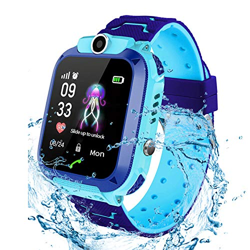 Jaybest Kinder Smartwatch Phone Waterproof Smartwatch with SOS Camera Alarm Clock 1.44 HD Screen Games for 3-12 Year Old Boys Girls Great Gift