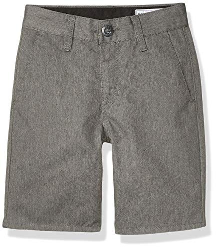 Volcom Boys' Frickin Chino Shorts, Charcoal Heather, 27