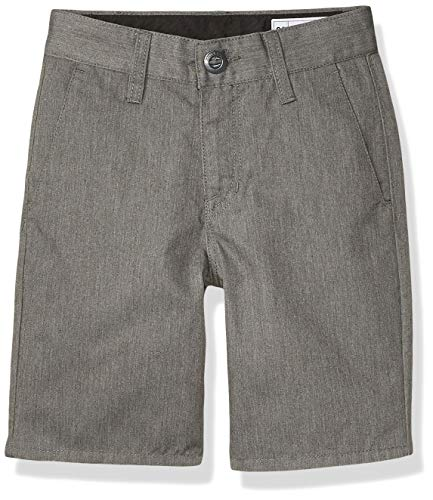 Volcom Boys Frickin Chino Shorts, Charcoal Heather, 28