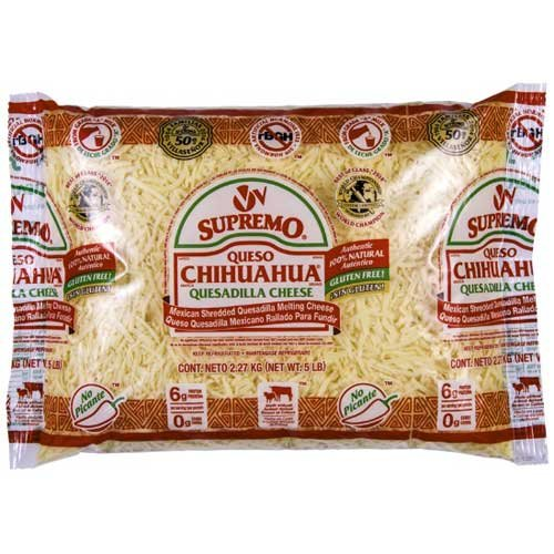 VV Supremo Shredded Queso Chihuahua Cheese, 5 Pound -- 4 per case.