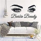 pegatinas de pared baratas Etiqueta de la pared Salón de belleza Maquillaje Decoración Microblading Calcomanía Pestañas Pestañas