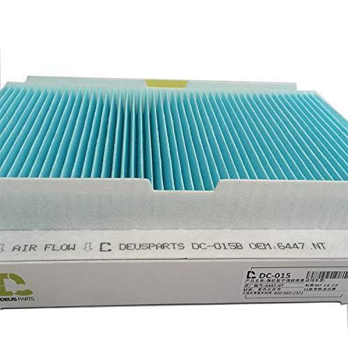 Hewen-Luftfilter Geeignete Luftfilter for Peugeot RCZ 307 308 308S Auto-Klimaanlage Filterelement Klimaanlage Gitter Tauschluftfilter