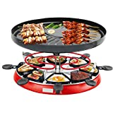 Huachaoxiang Raclette Grills Käse, Traditioneller Gourmet-Partygrill Mit 8 Antihaft-Pfannen...