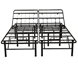 Classic Brands Black Adjustable Heavy Duty Metal 14-Inch Mattress Foundation Bed Frame - King