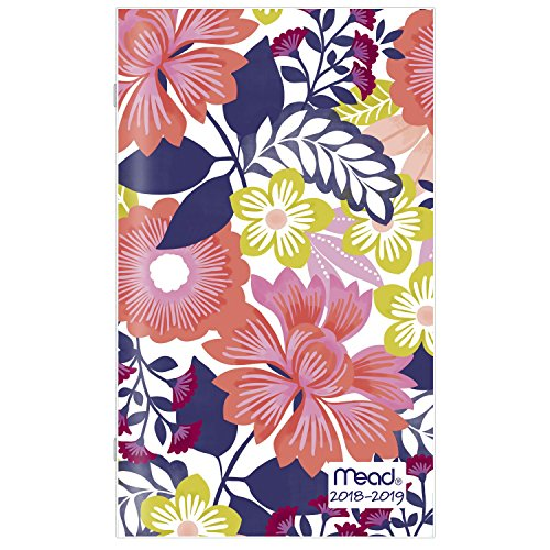 """Mead 2 Year Monthly Planner, January 2018 - December 2019, 3-5/8"""" x 6-3/16"""", Pocket Size, Fashion, Design Will Vary (CRM30138)"""