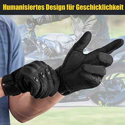 [Sport Handschuhe] FREETOO Motorrad Handschuhe Herren Vollfinger Army Gloves Ideal für Airsoft, Militär,Paintball,Airsoft, lebenslange Garantie - 4
