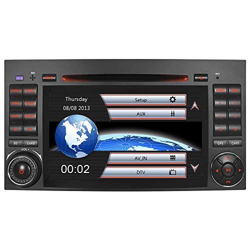 "7\"" AUTORADIO MIT 3G DVD GPS Navigation NAVI USB SD Bluetooth Autoradio CD Moniceiver Naviceiver CANBUS Dual Zone Subwoofer DAB für Mercedes Benz A/B Klasse Sprinter Vito Viano (Radio)"