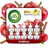 Air Wick Plug in Scented Oil 10 Refills, Apple Cinnamon, Fall Scent, Fall Spray, Eco Friendly, Essential Oils, Air...