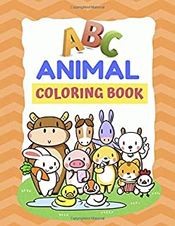 ABC Animal Coloring Book: My First Animal ABC Preschool Coloring Book | Learning Alphabet A to Z Animals Name with Picture...