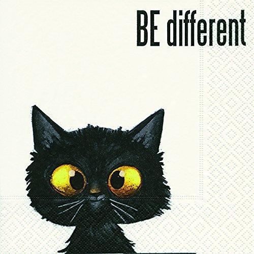 20 Servietten Katze Tiere Sprüche Different 33x33 cm