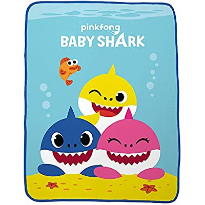 Baby Shark Plush Throw Blanket - 46 in. x 60 in.