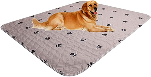 SincoPet Reusable Pee Pad + Free Puppy Grooming Gloves/Quilted, Fast Absorbing Machine Washable Dog Whelping Pad/Wate...