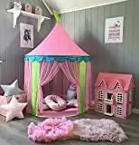 Carpa para niños Princess Castle for Girls - Glitter Castle Pop Up Play Carpa Tote Bag - Niños Playhouse Toy para juegos de interior y exterior 41 'X 55' (DxH)