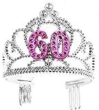 Forum Novelties Happy Birthday 60th Silver Purple Tiara