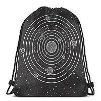 ソーラーシステムWli巾着袋ジムダンスバックパックショルダーバッグギフトクリスマス感謝祭36x 43 cm