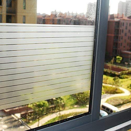 Lifetree Fensterfolie Sichtschutzfolie Streifenfolie Selbstklebend ohne Klebstoff 2D Statisch Folie 30 * 200CM