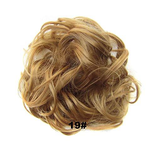 1 pièce d'extensions de cheveux synthétiques avec bande élastique en caoutchouc Marron