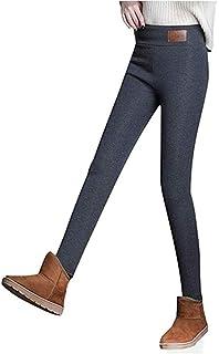Gaorui Pantaloni Donna Imbottiti da Inverno Jeans Attillati Aderenti Leggings Felpati by