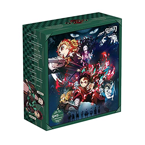 DAYINGTAO Demon Slayer Series/Caja de Regalo de Anime/periféricos de Anime/con Adornos, Tazas de Agua, Insignias, Tarjetas conmemorativas, marcadores, Postales, etc./Adecuado para Adultos, niños